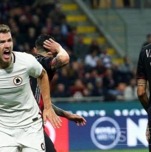 Maestralna igra Edina Džeke, Roma potopila Milan na San Siru