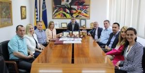 Gradonačelnik Tuzle upriličio prijem za predstavnike Mesne industrije Menprom
