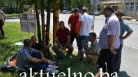Sabahaudin Kušljugić zamrznuo štrajk glađu na molbu svojih invalida FOTO/VIDEO