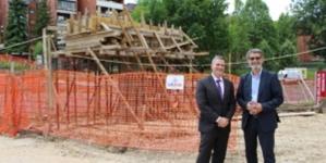 Gradonačelnik Tuzle i direktor misije USAID-a u BiH posjetili gradilište pješačkog mosta Stupine i Zlokovac