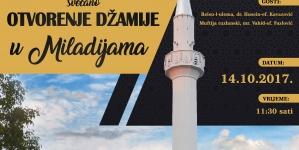 Najava: Svečano otvorenje džamije u Miladijama