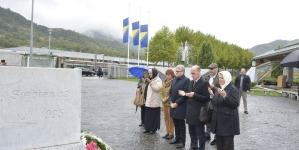 Mr. Ramiz Salkić u Srebrenici sa Klausom Lugerom, gradonačelnikom Linza (FOTO)