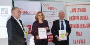 Visoka škola FINra, Disti i Spin donirali računarsku opremu JUM Ekonomsko-hemijskoj školi Lukavac