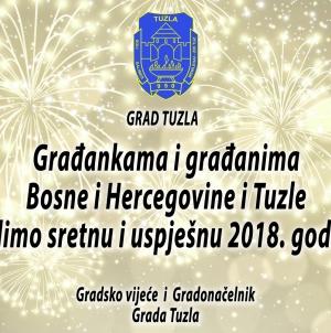 Novogodišnja čestitka Gradonačelnika i Gradskog vijeća Tuzla