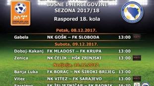 Gošk i Sloboda otvaraju 18. kolo Premijer lige BiH