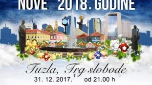 Javni doček nove 2018. godine u Tuzli