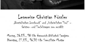 Najava književne večeri sa Christian Kösslerom