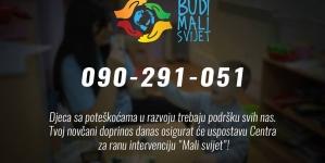 """Kampanja """"Budi mali svijet"""": Otvoren humanitarni broj"""