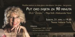 """Teatar kabare Tuzla: Koncert Maje Volk i Aleksandra Vavića """"Put oko svijeta za 90 minuta"""""""