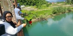 Dani sjećanja na genocid u Bratuncu: U Drinu puštene 603 ruže za duše žrtava