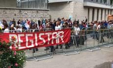 Sarajevo: Bivši borci blokirali ulicu kod zgrade Parlamenta FBiH
