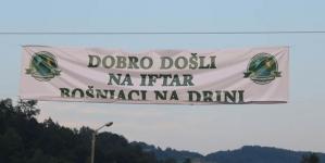 Bošnjaci na Drini uz veliki iftar u Konjević Polju 11. juna