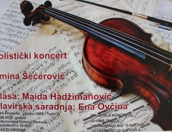 Solistički koncert violinistkinje Amine Šećerović 5. juna u MGP Tuzla