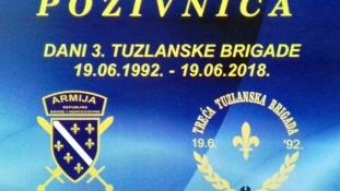 Najava događaja: Dani 3. Tuzlanske brigade od 17-19. juna