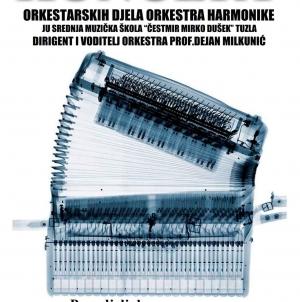 Koncert orkestarskih djela orkestra harmonika u ponedjeljak u BKC-u