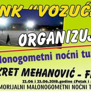 """Vozuća: U petak i subotu jubilarni memorijalni turnir """"Fikret Mehanović Fića"""""""