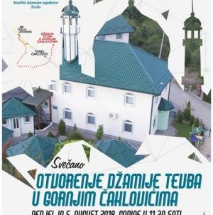 Svečano otvorenje džamije Tevba u Gornjim Čaklovićima