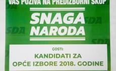 Najava predizbornog skupa SDA u Slavinovićima