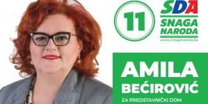 Predstavljamo kandidate: Amila Bećirović, kandidatkinja za Predstavnički dom Parlamenta FBiH
