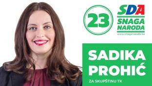 Predstavljamo kandidate: Sadika Prohić, kandidatkinja SDA za Skupštinu TK
