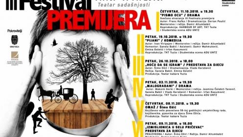U četvrtak počinje III Festival premijera 2018. Teatra kabare Tuzla