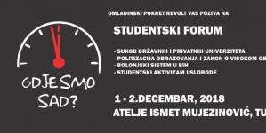 """Najava: Studentski forum """"Gdje smo sad?!"""""""