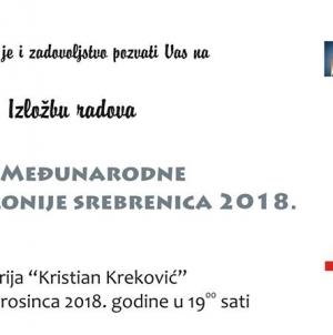 Izložba radova sa III. međunarodne likovne kolonije Srebrenica