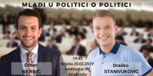 Mladi u politici o politici: Draško Stanivuković i Omer Berbić