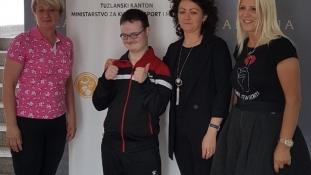 Hasan Sejdinović osvajač zlatne medalje na Svjetskim igrama Specijalne olimpijade