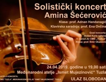 """Solistički koncert Amine Šećerović 24. aprila u Ateljeu """"Ismet Mujezinović"""""""