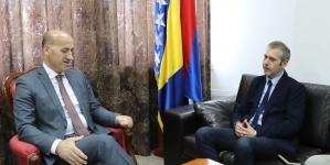"""Ramiz Salkić se u Banja Luci sastao sa Sanjinom Kodrićem, predsjednikom BZK """"Preporod"""""""