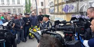 """Pripadnici Udruženja """"Zelene beretke"""" odali počast stradalim saborcima u nekadašnjoj Dobrovoljačkoj ulici"""