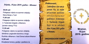 Najava: Obilježavanje 27. godišnjice od osnivanja 3. Tuzlanske brigade u srijedu 19. juna
