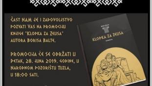 """Najava promocije knjige """"Klopka za Zeusa"""" autora Borisa Balte"""