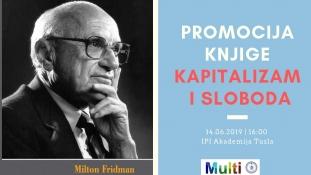 """Najava promocije knjige """"Kapitalizam i sloboda"""" u Tuzli"""