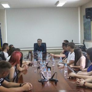 Gradonačelnik Tuzle upriličio prijem za članove Vijeća mladih grada Tuzle