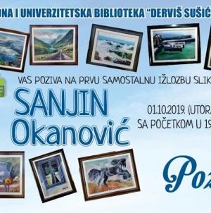 Najavaprve samostalne izložbe umjetničkih slika Sanjina Okanovića