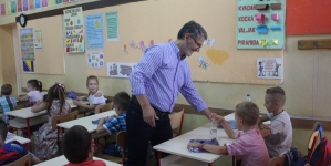 Gradonačelnik Tuzle u posjeti Osnovnoj školi Tušanj