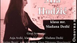 Mlada pijanistica Mia Hodžić 26. novembra održava solistički koncert u Tuzli