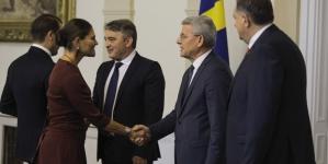 Članovi Predsjedništva BiH upriličili prijem za švedsku princezu Victoriju i princa Daniela.