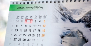 Za Novu godinu neradni dani 1. i 2. januar/siječanj
