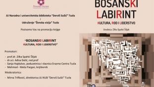 """Najava promocije knjige """"Bosanski labirint, kultura, rod i liderstvo"""" dr. Zilke Spahić-Šiljak"""