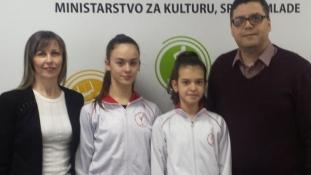 Članice reprezentacije BiH u ritmičkoj gimnastici u posjeti ministarstvu