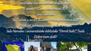 """NUB """"Derviš Sušić"""" Tuzla: Najava obilježavanja 1.marta – Dana nezavisnosti BiH"""
