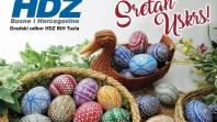 Čestitka Gradskog odbora HDZ BiH Tuzla povodom Uskrsa
