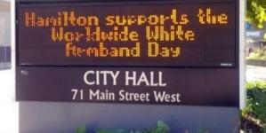 Kanada: Obilježavanje Međunarodnog dana bijelih traka u Hamiltonu