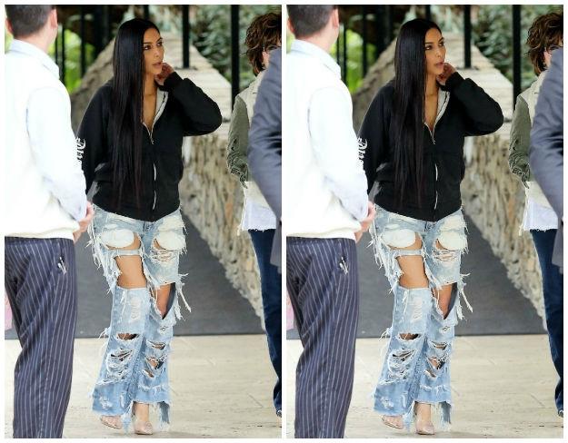 Look dana: Vrlo zanimljive traperice Kim Kardashian