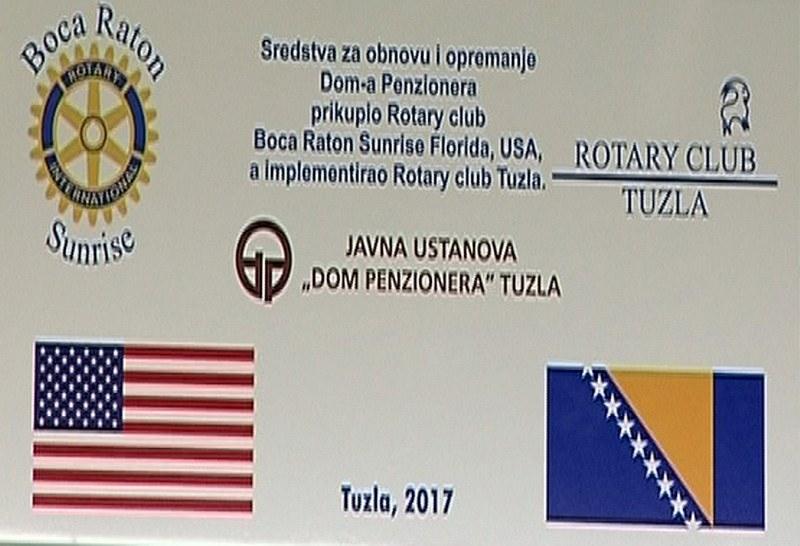 Rotary club Tuzla: Realiziran projekt poboljšanja uvjeta boravka u Domu penzionera u Tuzli