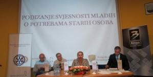 """Rotary Club Tuzla i Pedagoški zavod TK:""""Podizanje svjesnosti mladih o problemima starih osoba"""""""