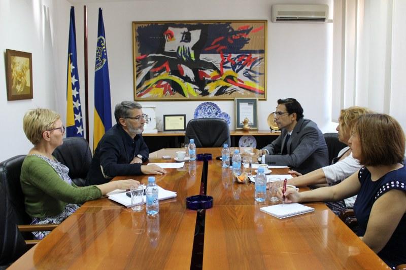 Radni sastanak gradonačelnika Imamovića i šefa Ureda Misije OSCE-a u Tuzli